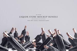 Liquor Store Mockup Bundle
