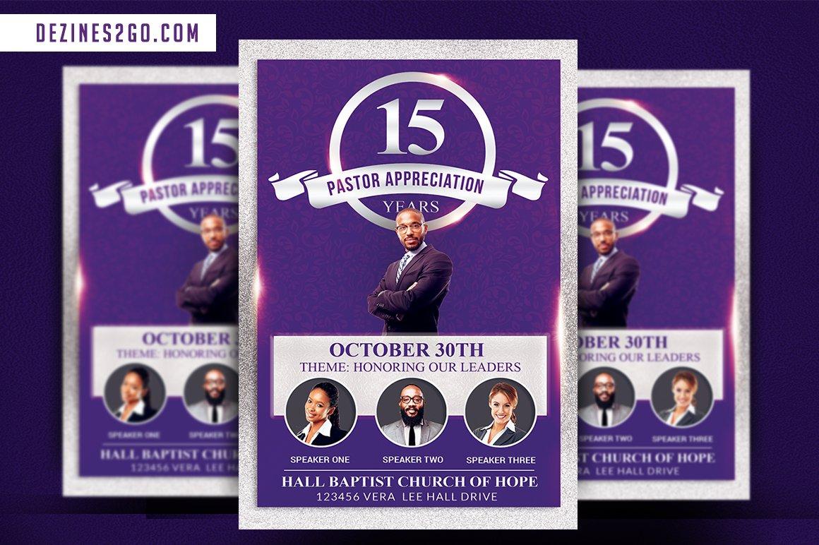 Pastor Appreciation Church Flyer ~ Flyer Templates ...
