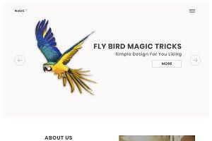 Sketch & PSD Starter Homepage Web
