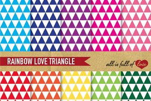 Rainbow Triangle Patterns Pack