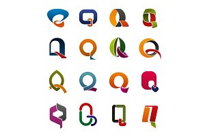 Letter Q corporate identity icons