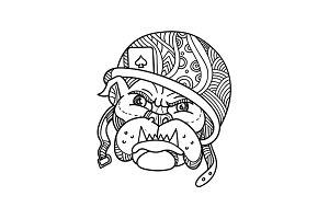 Soldier Bulldog Ace of Spade Mono Li