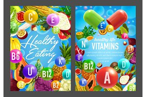 Vitamins in vegetables and fruits