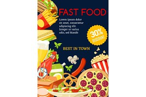Fast food meal combo special offer