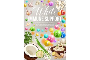 White color diet, veggies and fruits