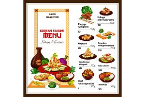 Korean spicy restaurant food dishes