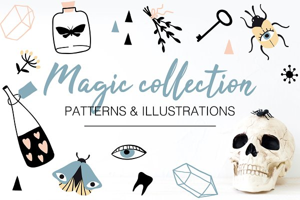 Objects: LenaNikolaeva - MAGIC illustrations and patterns