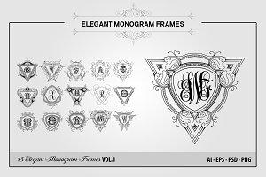 Elegant Monogram Frames VOL.1