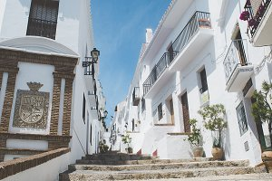 Typical street in Frigiliana, Malaga