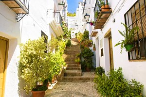 Street in Frigiliana, Andalusia