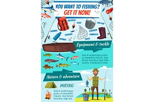Fishing tackles and fisherman