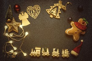 Christmas frame ornaments  backgroun