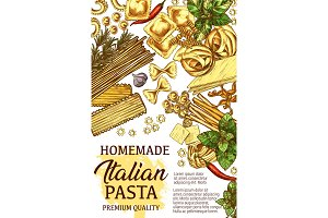 Italian pasta cooking, vector