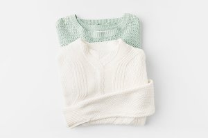 trendy knitted sweater