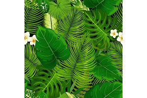 Tropical exotic plants pattern