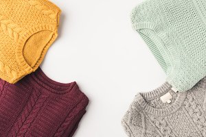cozy knitted sweaters