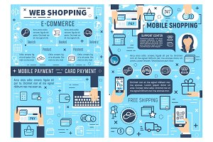 Online e-commerce and shopping