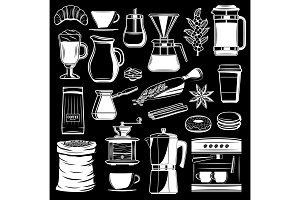 Coffee maker vector icons