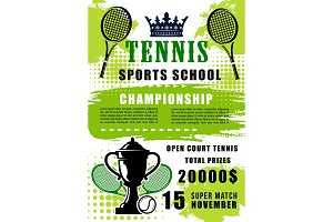 Tennis sports school open match