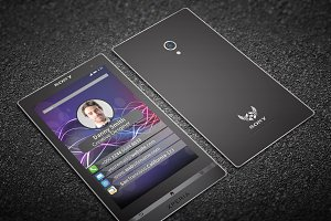 Sony Xperia Style Business Card