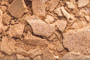 top view of crushed cosmetic powder