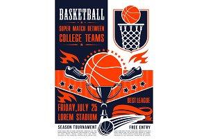 Basketball college team match