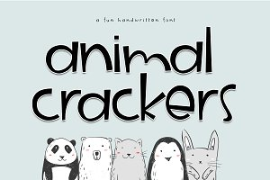 Animal Crackers - A Fun Font
