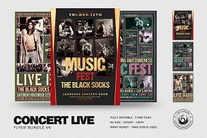 Concert Live Flyer Bundle V6