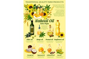 Organic vegetable, hemp or nut oil
