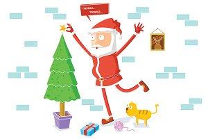 Santa Claus celebrates Christmas