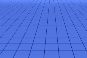 Blue tile flooring, architecture pat