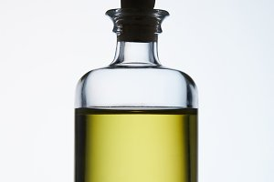 closed bottle of aromatic massage oi