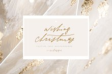 Christmas Gold Foil Backgrounds