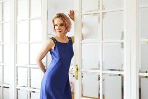 Fashion portrait of a beautiful mode