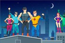Superheroes Team Composition