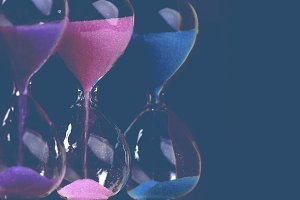 colored hourglass