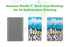 Amazon Kindle 7 Back 3d Case Mockup