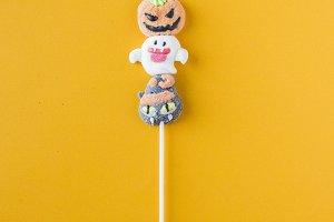 Halloween candies arranged in an alt