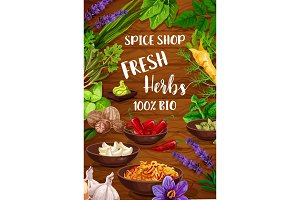 Spices, culinary herbsб condiments