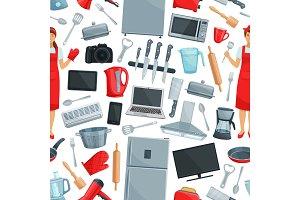 Home appliance seamless pattern