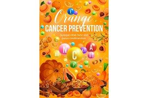 Color diet food, orange day