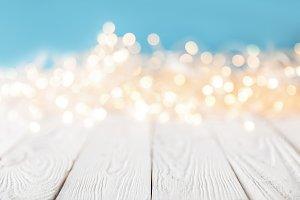 festive christmas bokeh lights