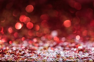 christmas background with confetti