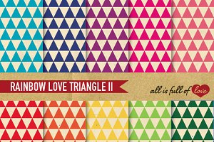 Retro Triangular Background Patterns