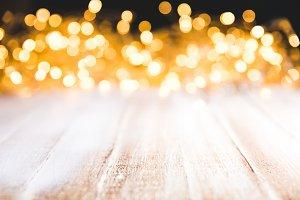 festive bokeh lights