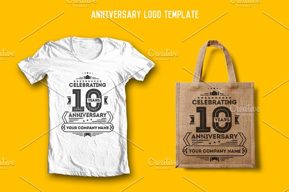 anniversary logo template logo templates creative market