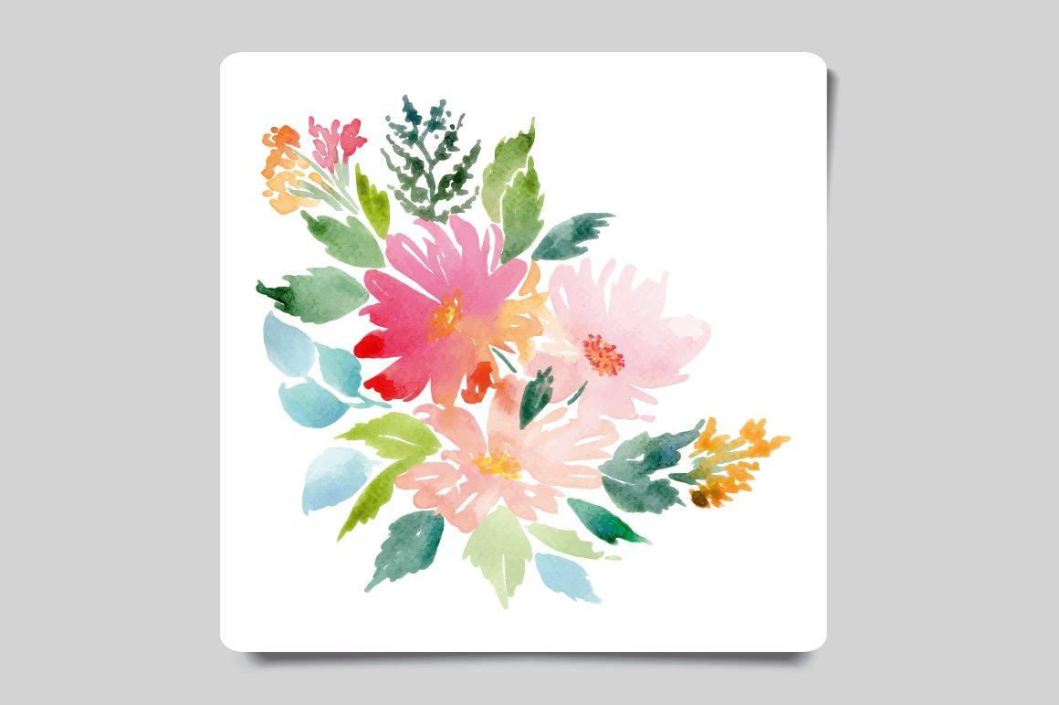 Watercolor Card ~ Card Templates ~ Creative Market