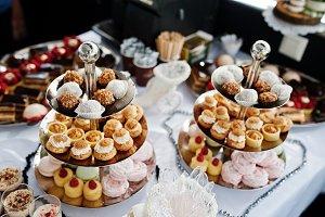 Close-up photo of delicious desserts