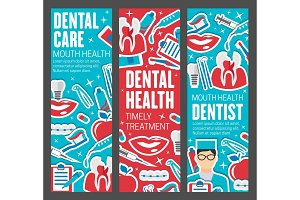 Dentistry banners, doctor