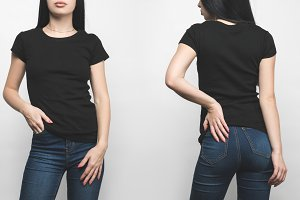 front and back view of young woman i